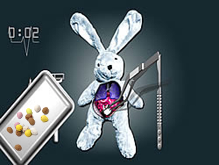 bunny operation for easter eggs - easter egg surgery - chocolate operation
