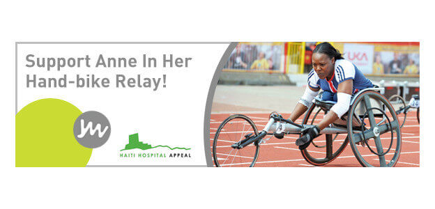 Support Anne In Her Hand-bike Relay - London to Switzerland!