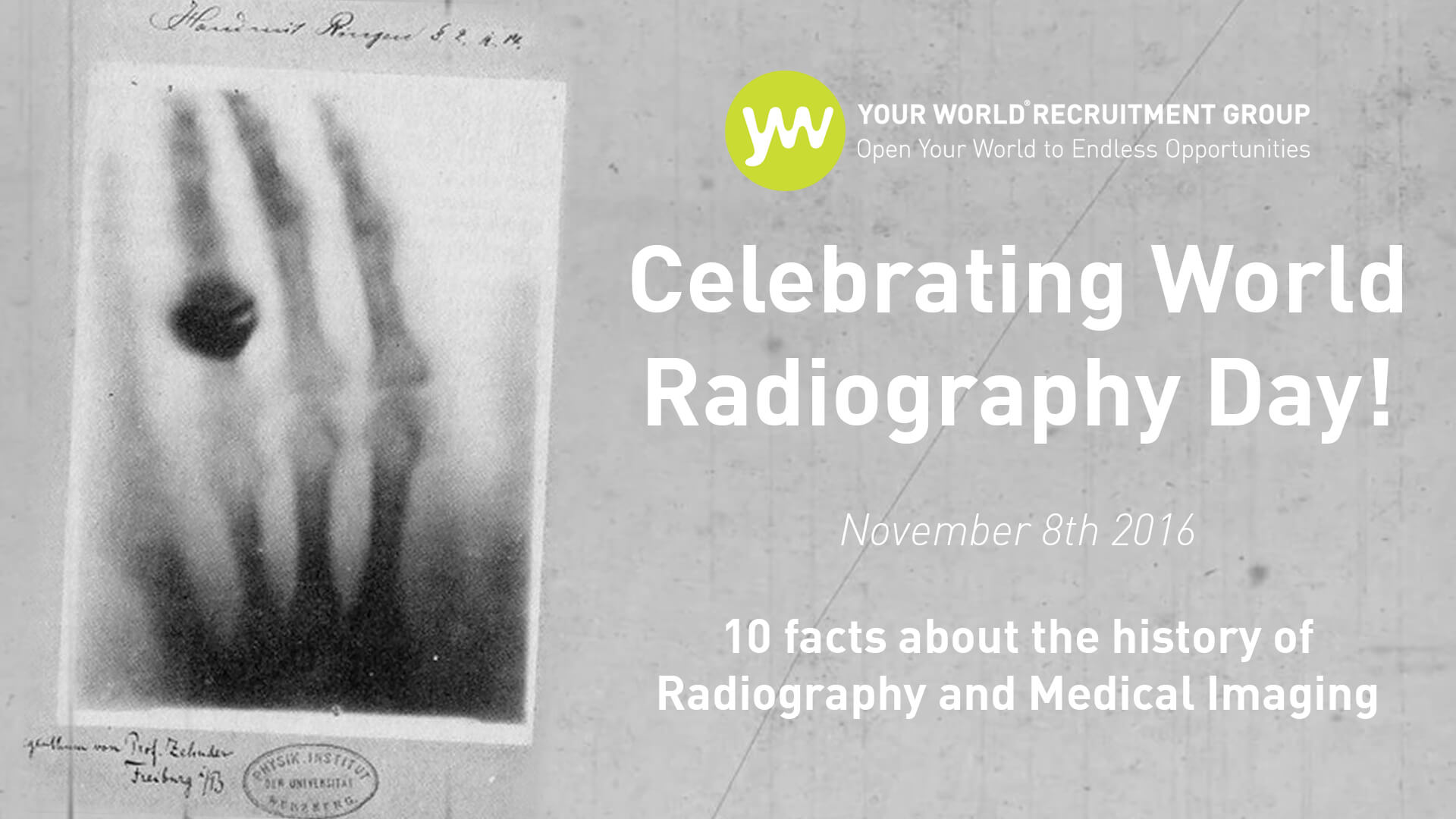 It's World Radiography Day 2016!