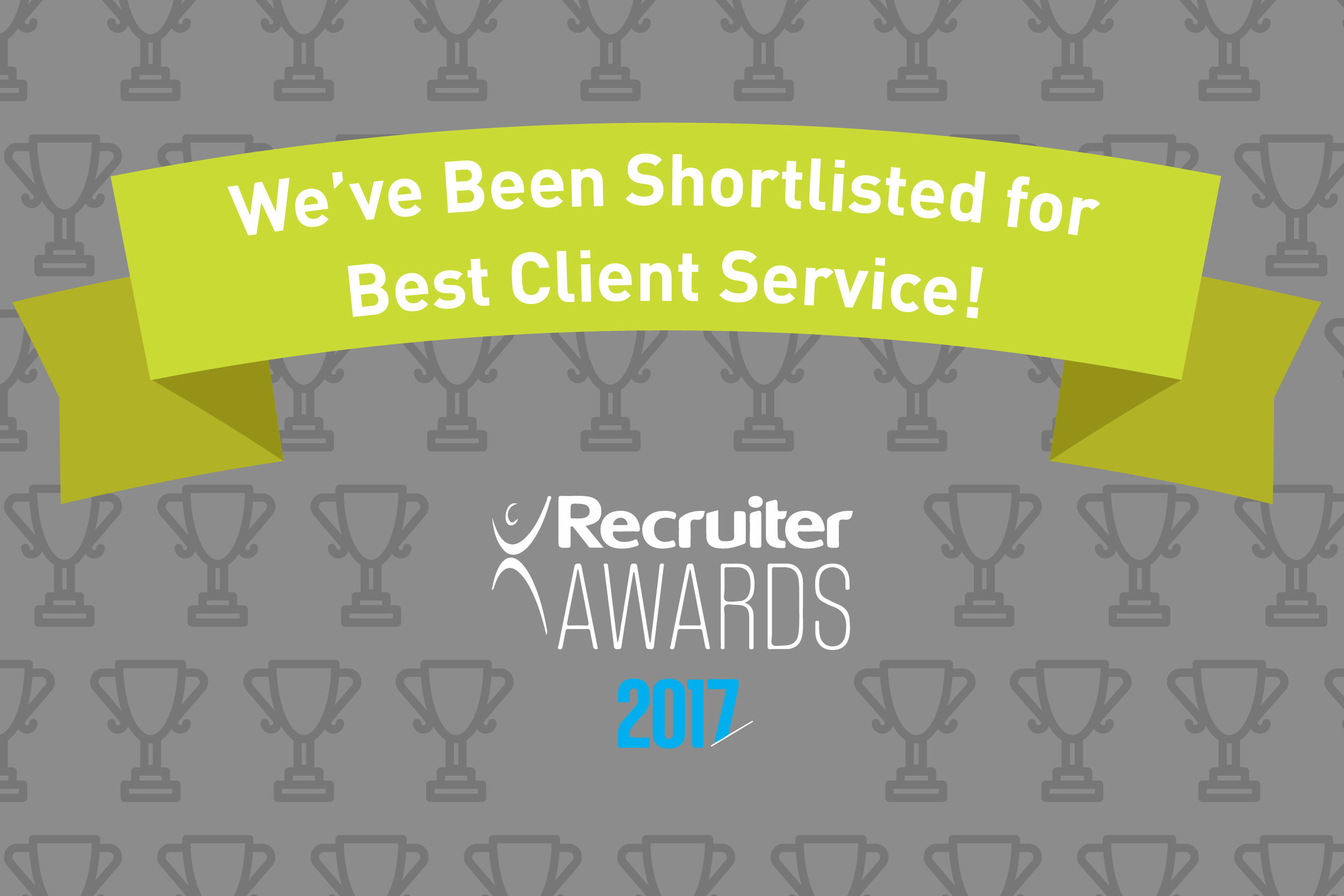 We're in the Running for Best Client Service!