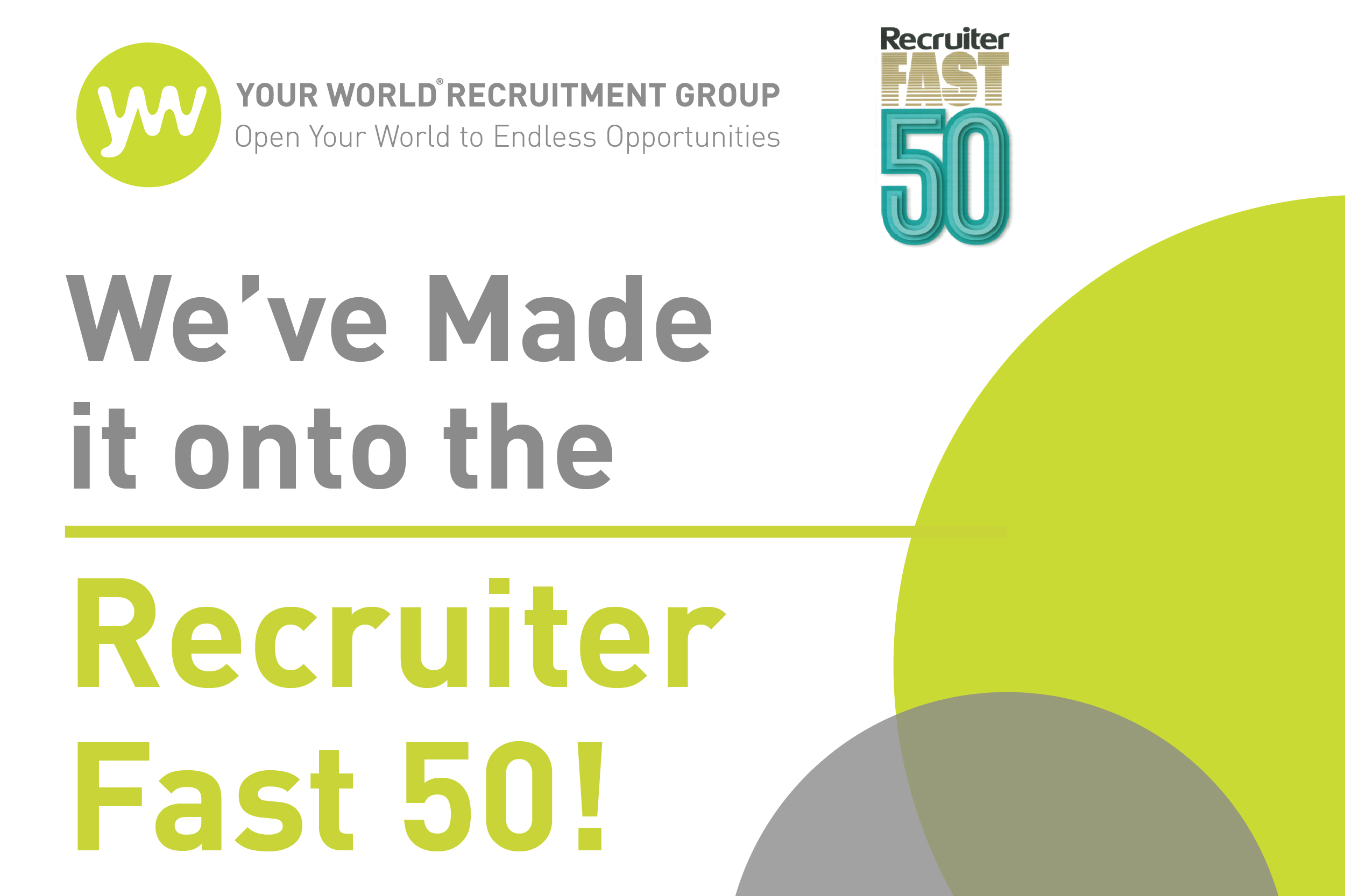 We've Made it onto the Recruiter Fast 50!