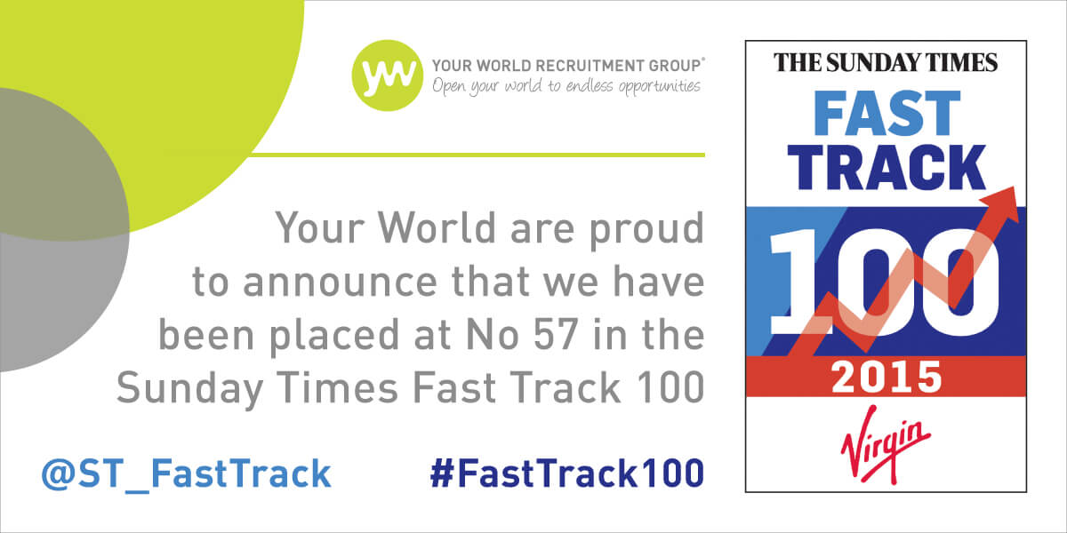 We're in the Sunday Times Virgin Fast Track 100!