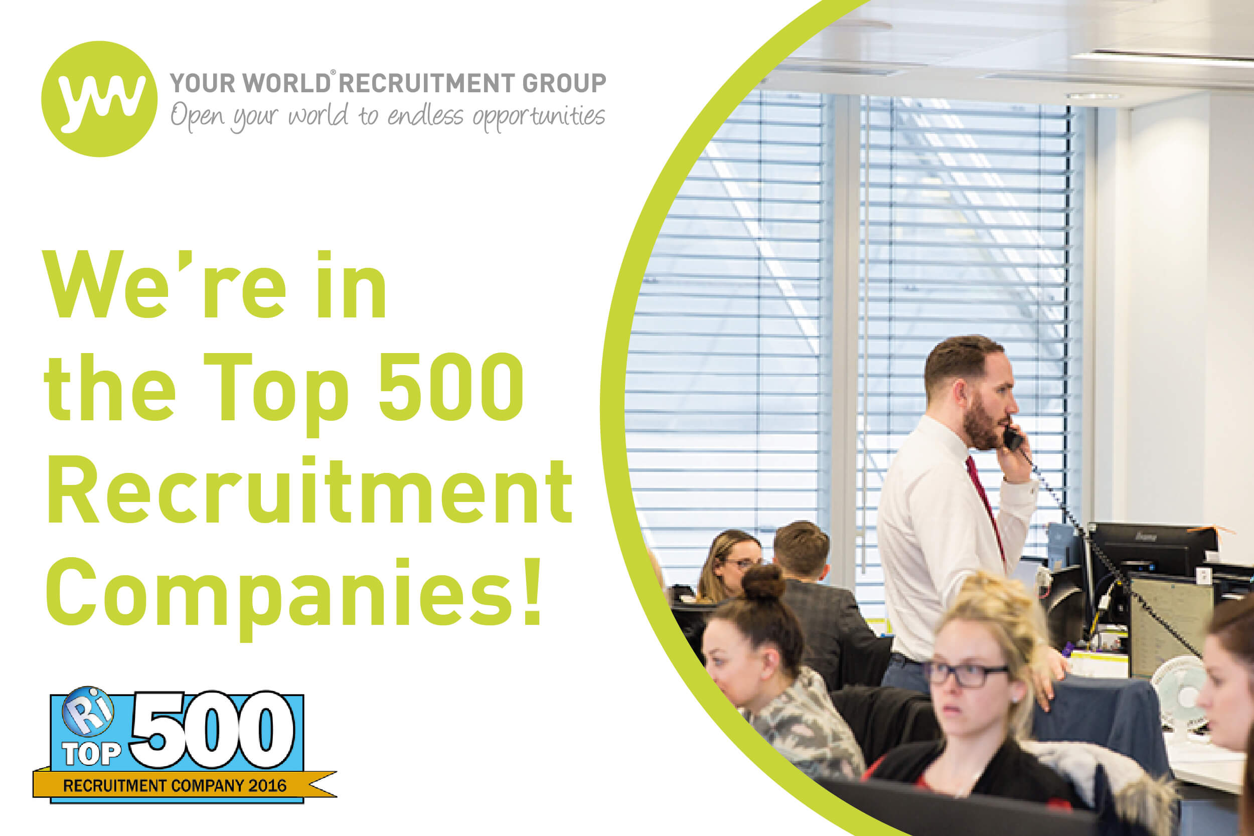 We're in Recruitment International's Top 500 Recruitment Companies